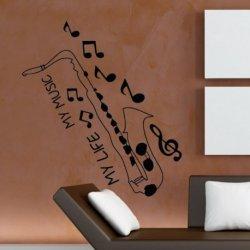 Saxofón y Notas Musicales