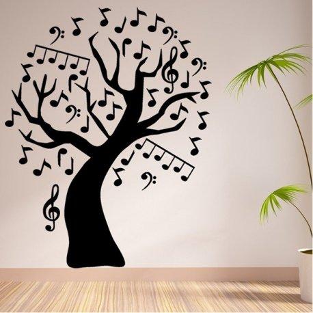 Vinilo decorativo rbol de notas musicales for Vinilos decorativos infantiles musicales