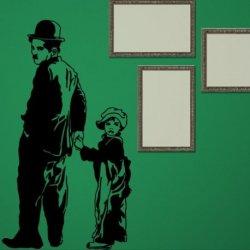 Charles Chaplin y Su Hijo
