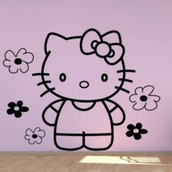 Hello Kitty entre Flores