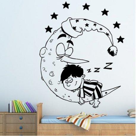 Vinilo decorativo infantil el peque o dormil n - Vinilos pequenos ...