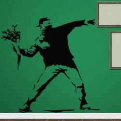 Banksy y el Chico de las Flores