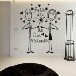 Feliz San Valentín Hombre y Mujer