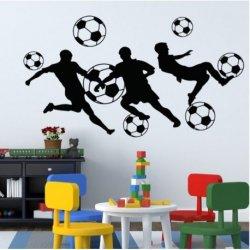 Siluetas Jugando a Fútbol