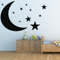 Luna y Cielo Estrellado