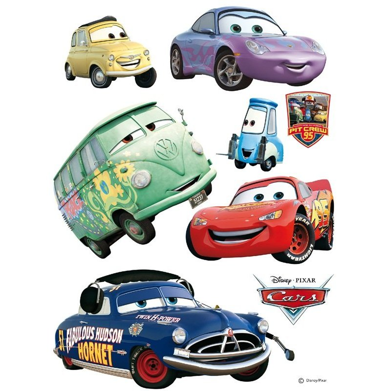 Sticker infantil cars rayo mcqueen y amigos - Image voiture cars ...