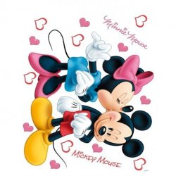 Minnie besando a Mickey Mouse