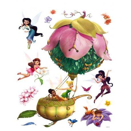 Hadas Disney con globo de flor