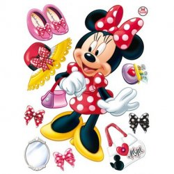Minnie Mouse y complementos