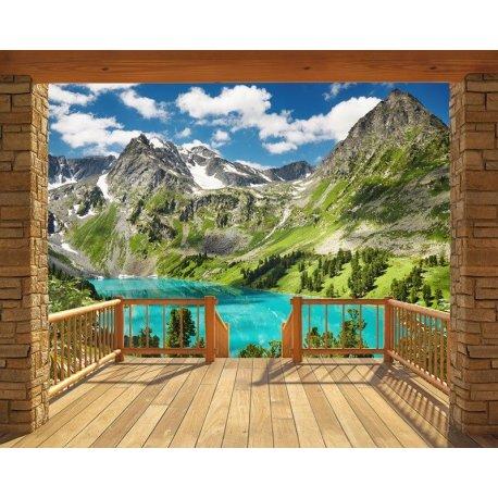 Puerta Cabaña en la Montaña