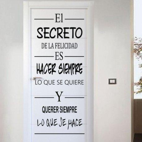 Vinilo decorativo el secreto de la felicidad - Vinilos para puertas cocina ...