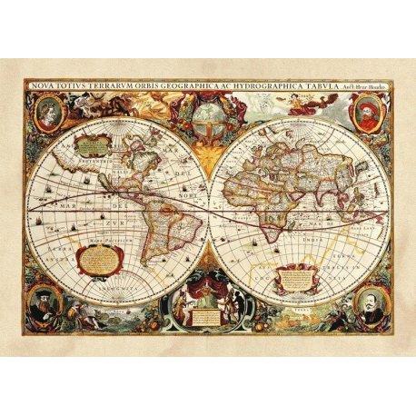 Mapamundi Antiguo Siglo XVII