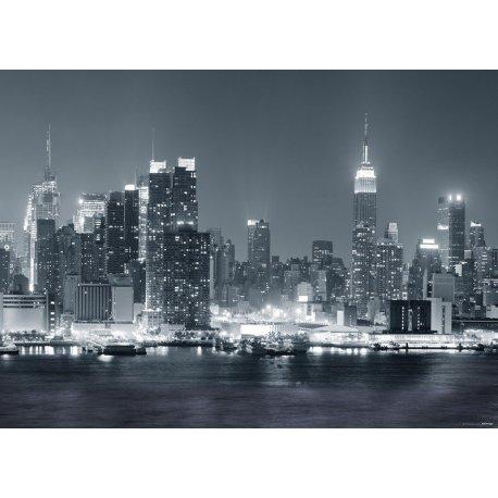 Nueva York Nocturno en Blanco y Negro
