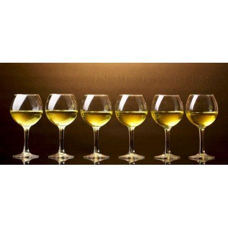 Copas de Vino Blanco In Vine Veritas