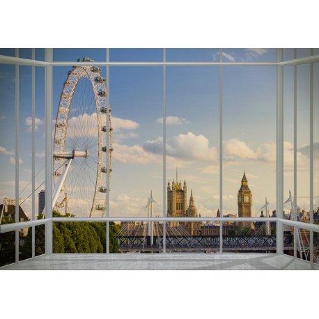 Balcón con Vistas a la Gran Noria de Londres