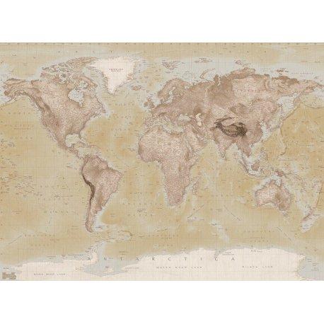 Mapa del Mundo Estilo Antiguo