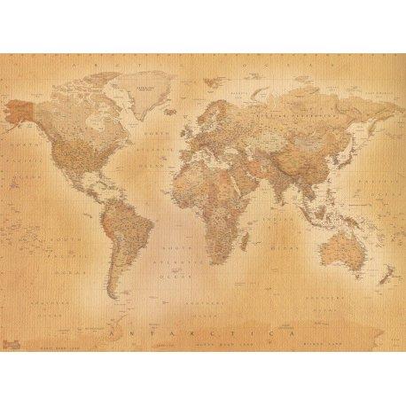 Mapa Mundo Moderno Estilo Antiguo