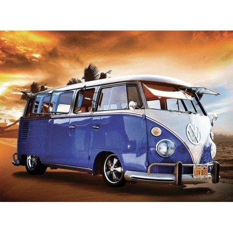 Furgoneta Volkswagen Clásica en la Playa