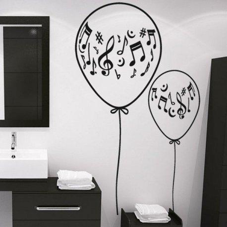 Vinilo decorativo globos con notas musicales for Vinilos decorativos con notas musicales
