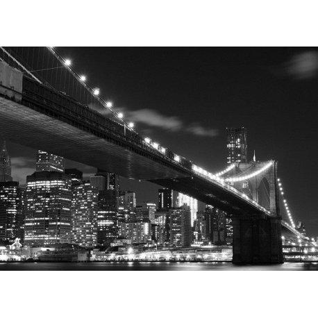 Luces en Blanco y Negro Puente de Brooklyn