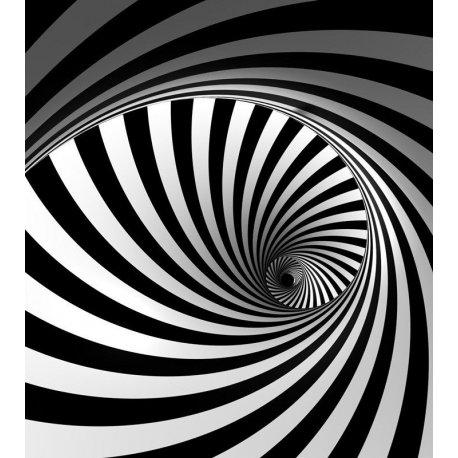 Espiral Interminable en Blanco y Negro