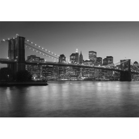 Puente de Brooklyn Blanco y Negro