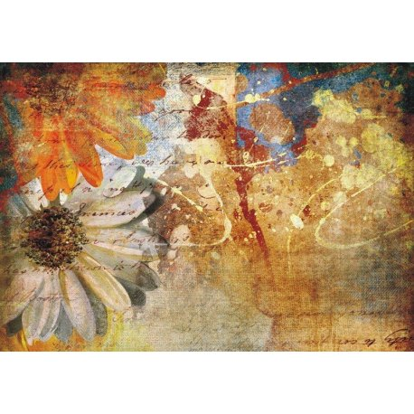 Lienzo de Flores Pintadas