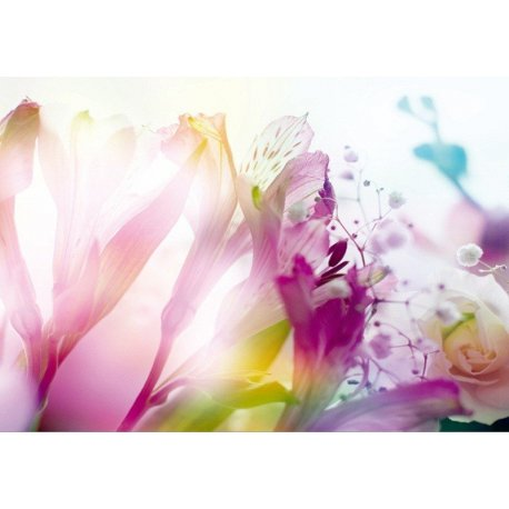 Mural Flores Rosa Pastel