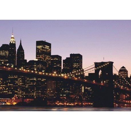 Luces de Nueva York y el Puente de Brooklyn