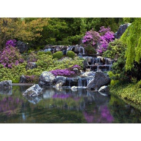 Cascada Jardín Japonés Zen