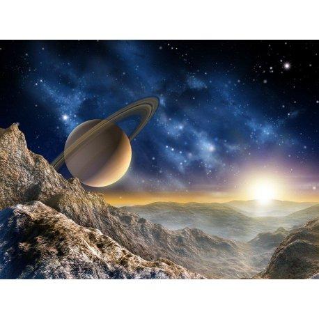 Amanecer en Luna de Saturno