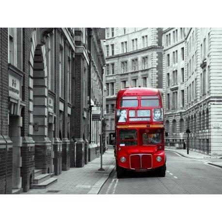 Autobús Londres Rojo sobre Gris