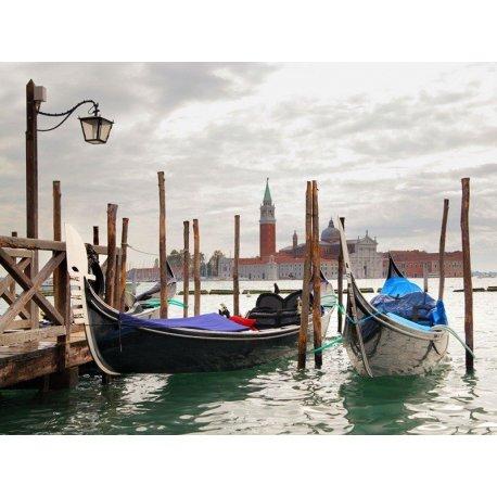 Estampa Venecia Góndolas en los Canales