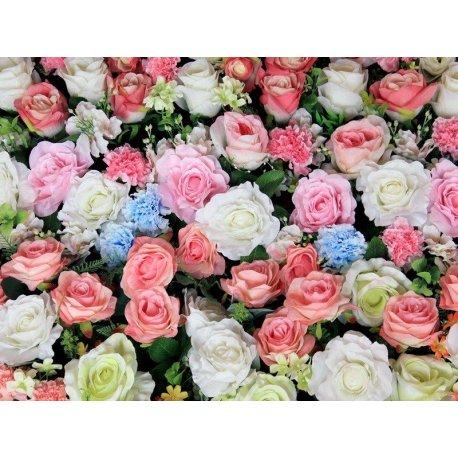 Mosaico Rosas Colores Pastel