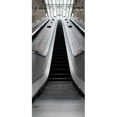 vinilos decorativos para subida de escalera Fotomural Escaleras Mecnica Subida En El Metro