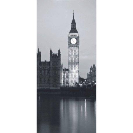 Big Ben Iluminado en Blanco y Negro
