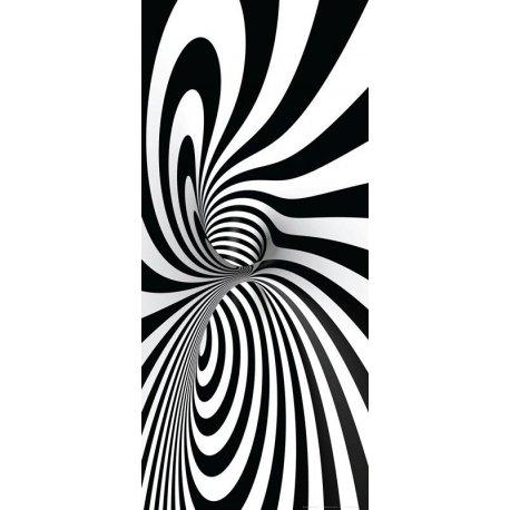 Doble Espiral en Blanco y Negro