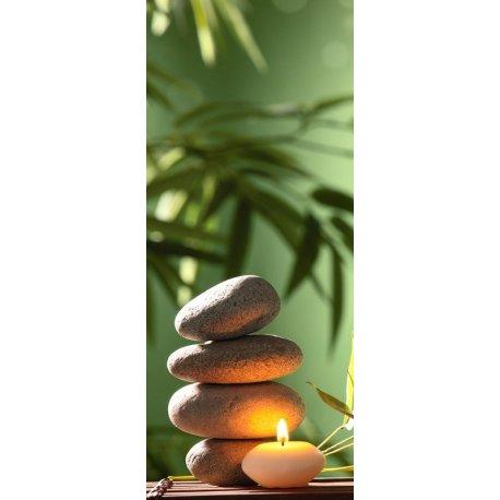 Vela Relajación junto a Piedras Zen