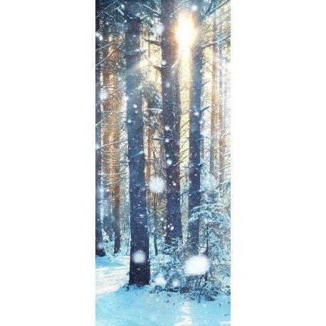 Nieve en el Bosque de Invierno