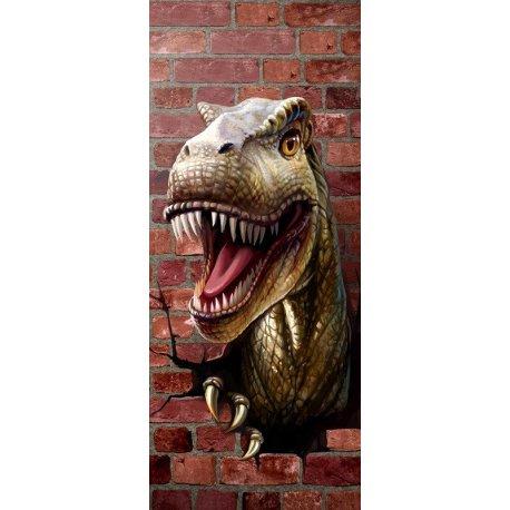 Tiranosaurios Rex rompiendo Pared