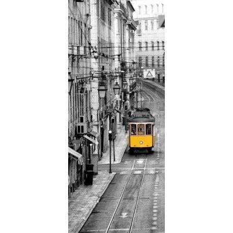 Tranvía Lisboa sobre Blanco y Negro