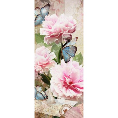 Composición Vintage Rosas y Mariposas