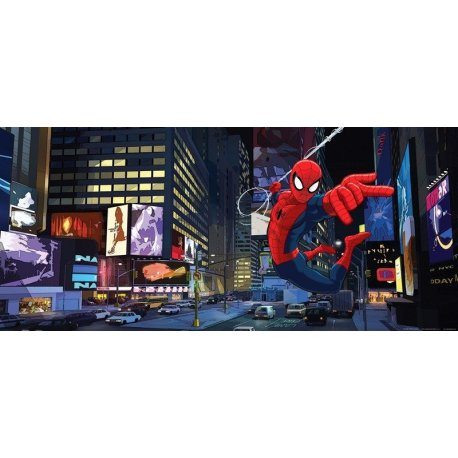 Spiderman Volando en Time Square