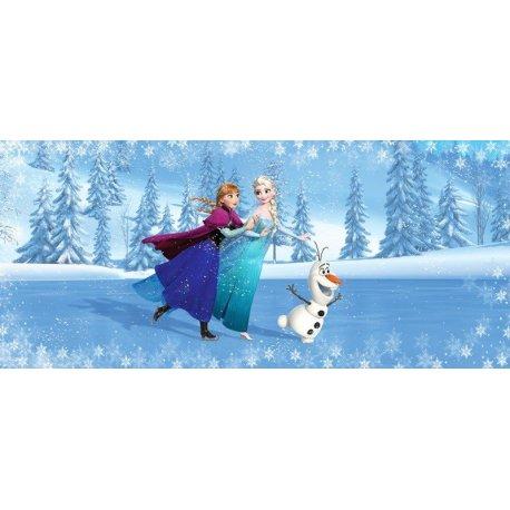 Elsa Anna y Olaf Patinando en el Hielo Frozen