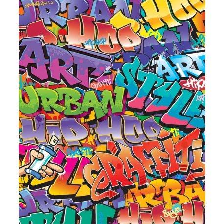 Graffiti Arte Urbano Colorido Infantil