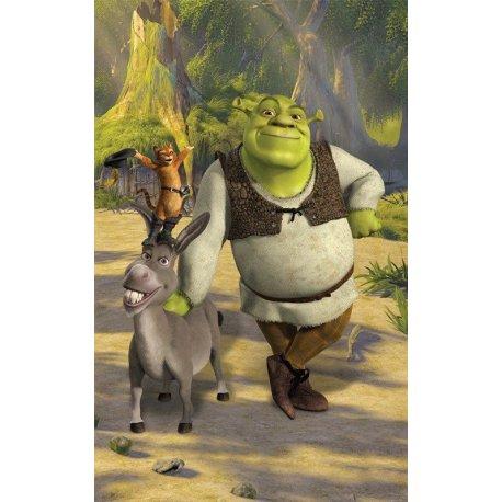 Shrek Asno y Gato con Botas Juntos