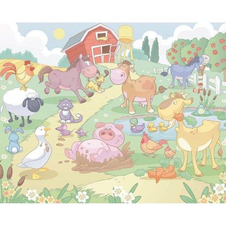 Granja de Animales Dibujo Infantil