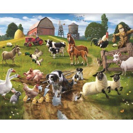 Dibujo Realista Animales en la Granja