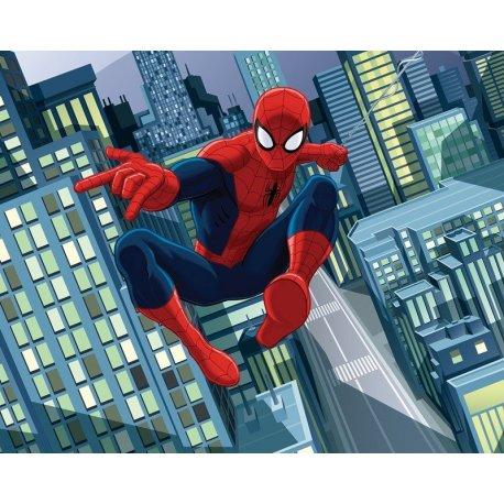 Spiderman Comic Vuela entre Rascacielos