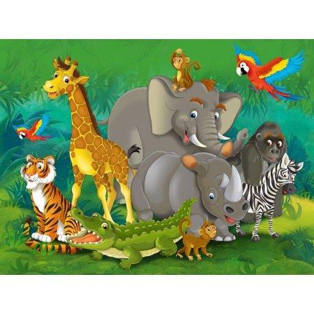 Fotomural Decorativo Los Animales De La Selva
